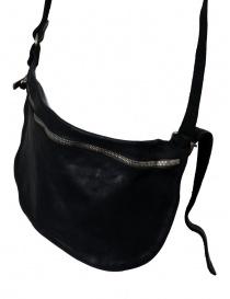 Marsupio Guidi in pelle di cavallo nera cinture acquista online