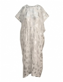 Abiti donna online: Abito Miyao bianco argento floreale