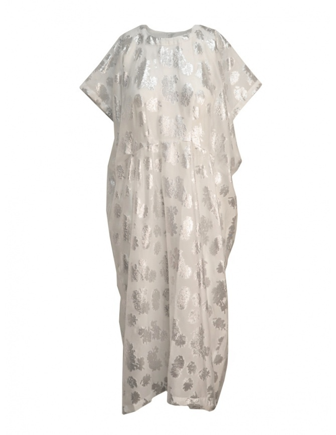 Abito Miyao bianco argento floreale MQ-O-04 WHITE abiti donna online shopping
