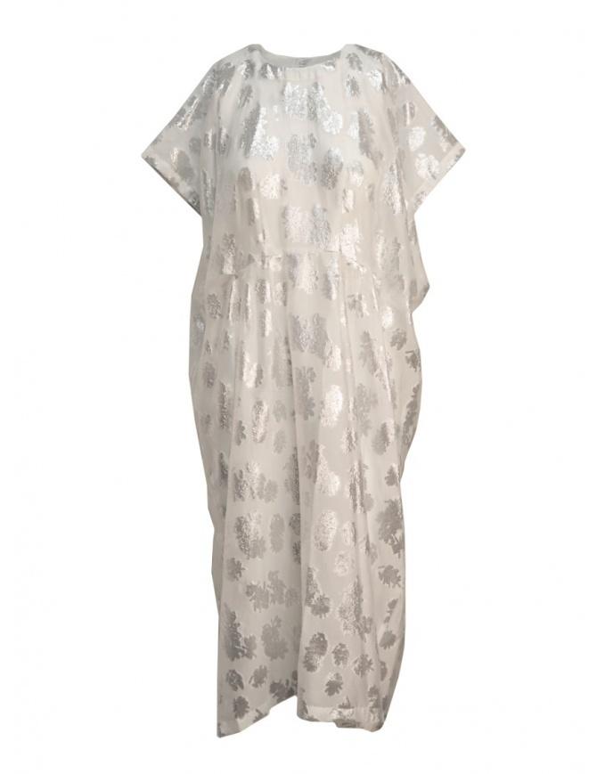 Miyao white silver floral dress MQ-O-04 WHITE womens dresses online shopping