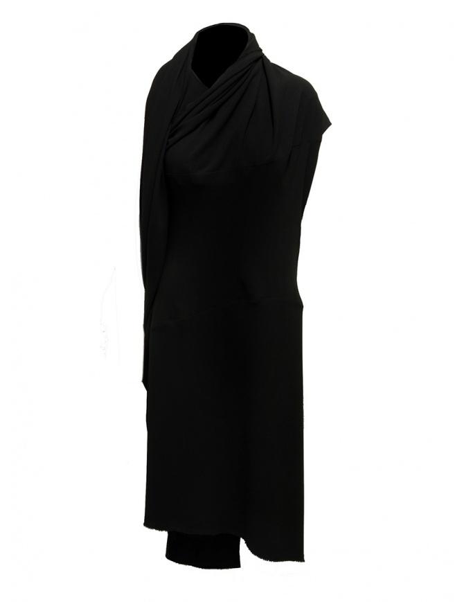 Marc Le Bihan black dress with multiple closures 2158 NERO womens dresses online shopping