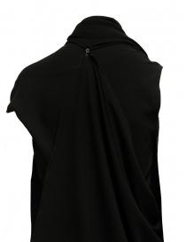 Marc Le Bihan black dress with multiple closures womens dresses price