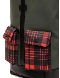 Zaino Frequent Flyer Captain verde tasche tartan rosso borse acquista online