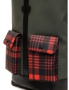Frequent Flyer Captain green backpack red tartan pockets CAPTAIN M GREEN/TARTAN RED buy online