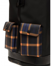 Frequent Flyer Captain black backpack yellow-blue tartan pockets travel bags buy online