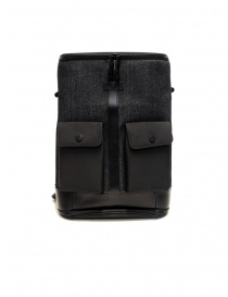 Frequent Flyer Captain M backpack in black denim CAPTAIN M BLACK/DENIM order online