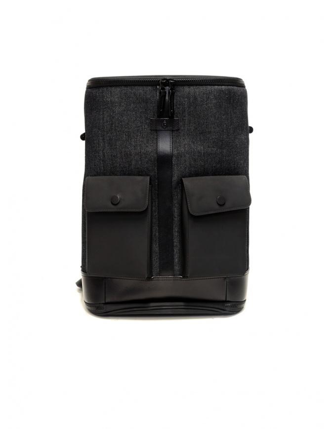 Frequent Flyer Captain M backpack in black denim CAPTAIN M BLACK/DENIM travel bags online shopping