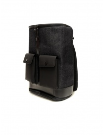 Frequent Flyer Captain M backpack in black denim
