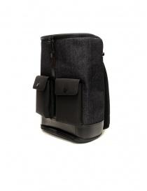Frequent Flyer Captain M backpack in black denim buy online