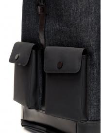 Frequent Flyer Captain M backpack in black denim travel bags buy online