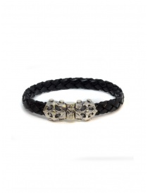 ElfCraft bracelet black leather blades cross price