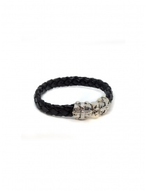 ElfCraft bracelet black leather Smith cross jewels buy online
