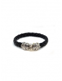 Jewels online: ElfCraft bracelet black leather Smith cross