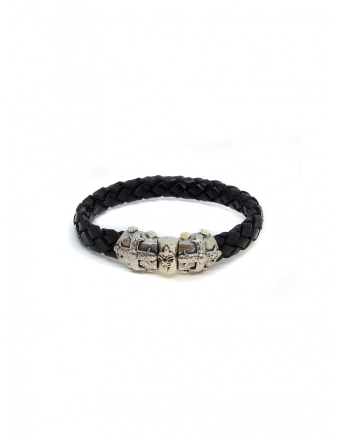 ElfCraft bracelet black leather Smith cross 219.04.64.10 jewels online shopping