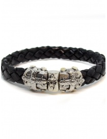 ElfCraft bracelet black leather Smith cross