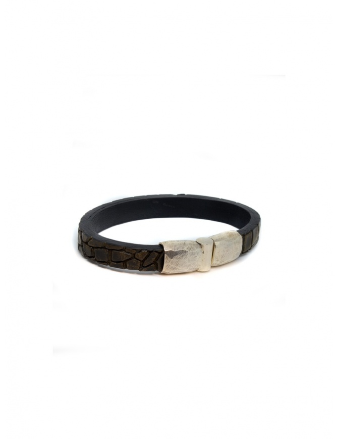 ElfCraft bracelet Plain brown crocodile DF219.000.10FAC jewels online shopping