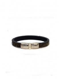 ElfCraft bracelet Plain brown crocodile