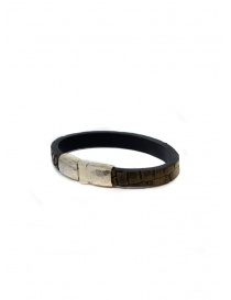 ElfCraft bracelet Plain brown crocodile price