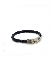 Jewels online: Elfcraft bracelet Love Me Hate Me in black leather