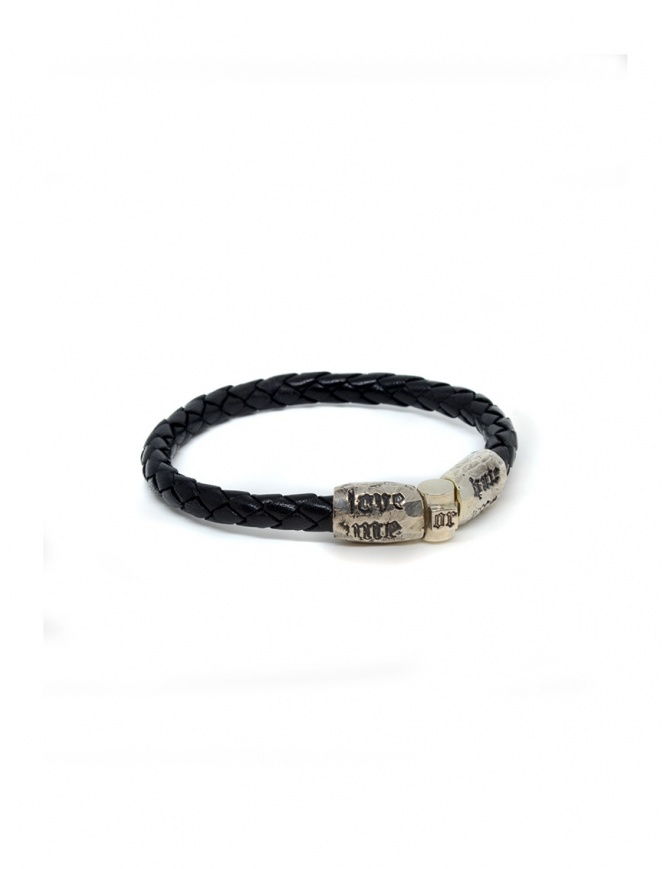 Elfcraft bracelet Love Me Hate Me in black leather DF219.FIRST.07FAC jewels online shopping