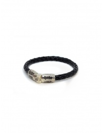 Elfcraft bracelet Love Me Hate Me in black leather jewels buy online