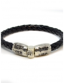 Elfcraft bracelet Love Me Hate Me in black leather