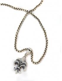 Pendente ElfCraft Lily in argento sfaccettato