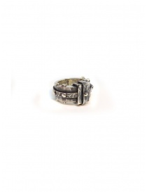 ElfCraft faceted silver rectangular ring 802.135.14FAC