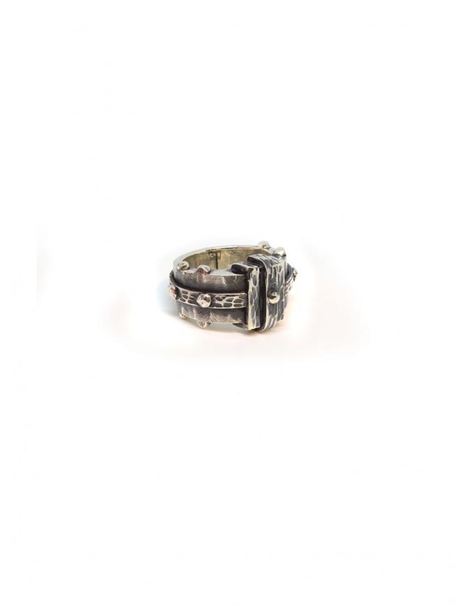 Anello ElfCraft in argento sfaccettato rettangolare 802.135.14FAC preziosi online shopping
