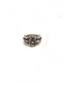 Anello ElfCraft in argento sfaccettato rettangolare