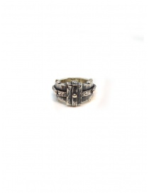 ElfCraft faceted silver rectangular ring
