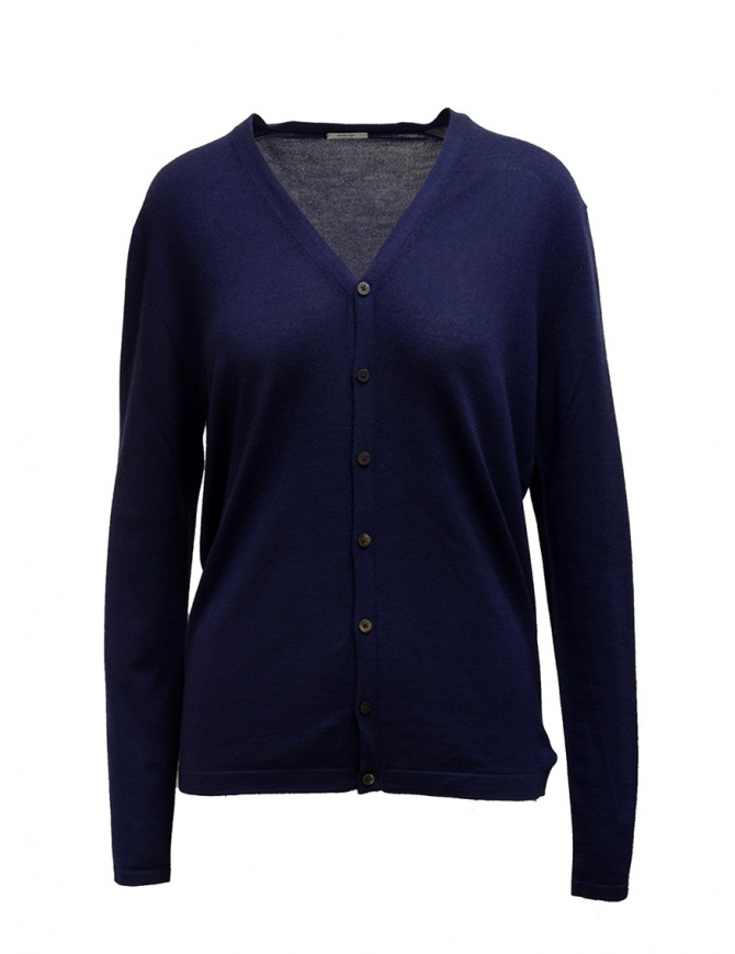 Adriano Ragni blue cashmere cardigan 16 18 004 01 RG BLUE BL 01 mens knitwear online shopping