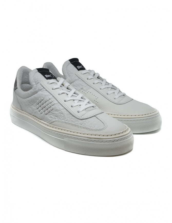 BePositive Roxy crumpled effect white sneakers 9FARIA14/WRI/WHI-ROXY mens shoes online shopping