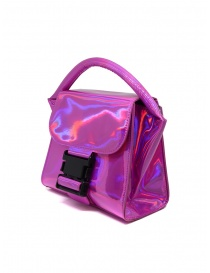 Zucca Small Buckle laminated pink bag