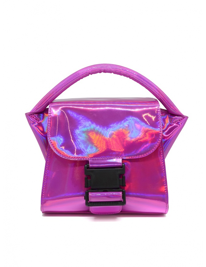 Borsa Zucca Small Buckle rosa laminato ZU99AG263 PINK borse online shopping