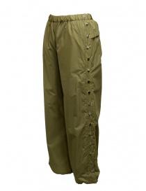 Pantaloni Zucca con bottoni color cachi