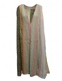 Abiti donna online: Abito Kapital patchwork lino e cotone pastello