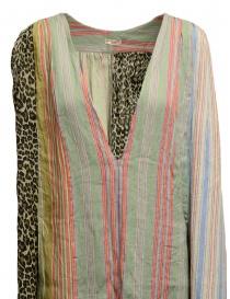 Kapital linen and cotton pastel patchwork dress price