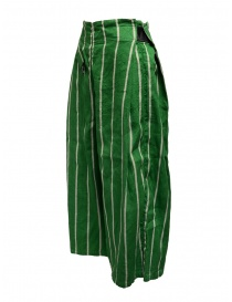 Kapital green striped cropped trousers