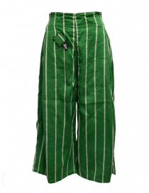 Kapital green striped cropped trousers online