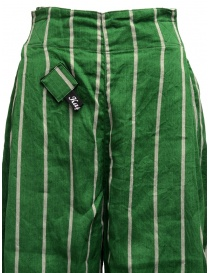 Kapital green striped cropped trousers womens trousers buy online