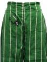 Kapital green striped cropped trousers K1905LP189 GREEN buy online
