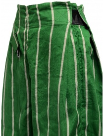 Kapital green striped cropped trousers womens trousers price