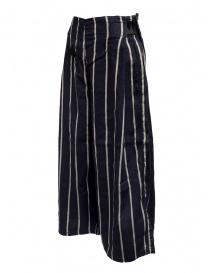 Kapital navy striped cropped trousers