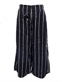 Kapital navy striped cropped trousers K1905LP189 NAVY order online