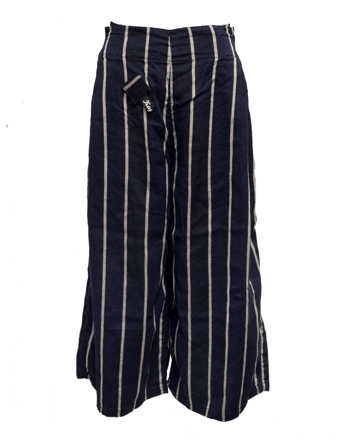 Pantaloni Kapital cropped blu navy a strisce K1905LP189 NAVY pantaloni donna online shopping