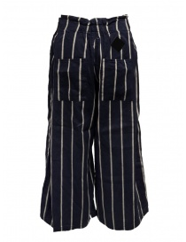 Kapital navy striped cropped trousers price