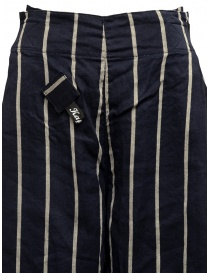 Kapital navy striped cropped trousers womens trousers buy online