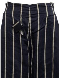 Pantaloni Kapital cropped blu navy a strisce pantaloni donna acquista online