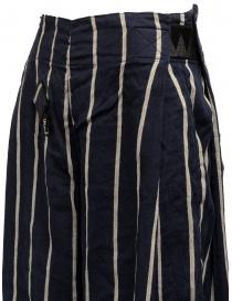 Pantaloni Kapital cropped blu navy a strisce pantaloni donna prezzo